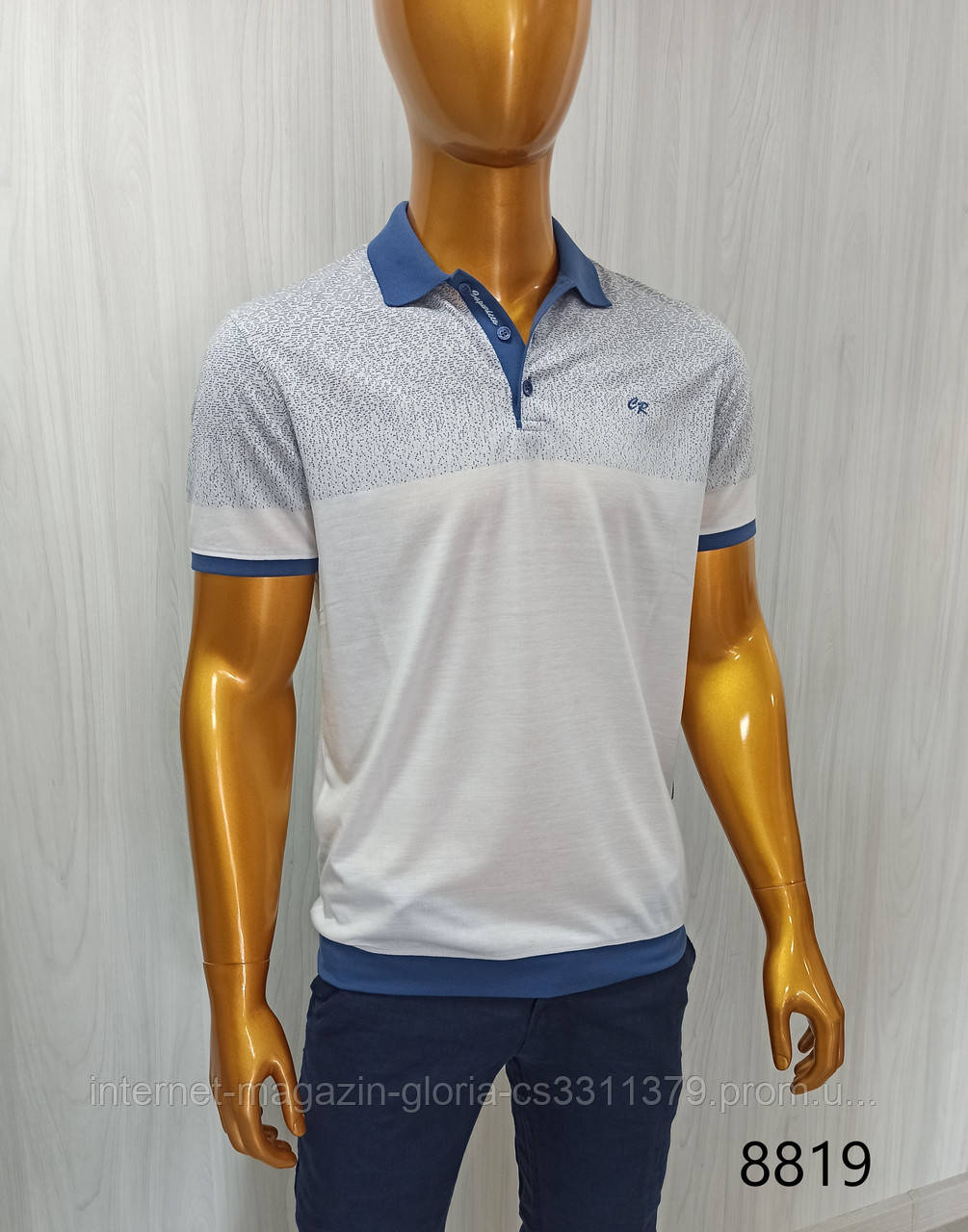 Мужская футболка поло Caporicco. PSL-8819. Размеры: M,L,XL,XXL.