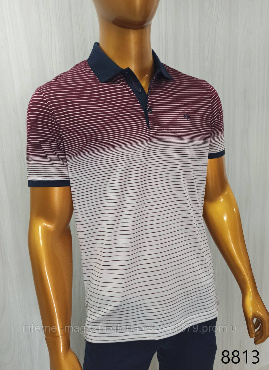 Мужская футболка поло Caporicco. PSL-8813. Размеры: M,L,XL,XXL.
