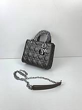 Сумка в стиле Dior Lady | реплика Диор Леди серебряная фурнитура (0287) Бронзовый