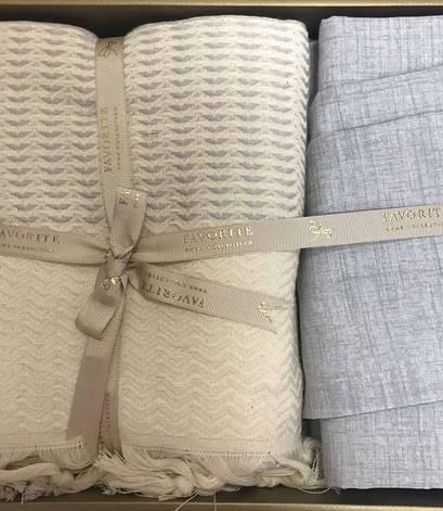 Комплект постільної білизни Favorite Armani Піку Євро льон з покривалом арт.ts-02144, фото 2