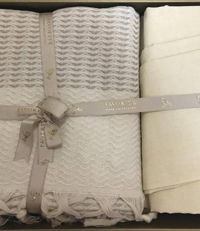 Комплект постельного белья Favorite Armani Пике Евро лен с покрывалом арт.ts-02147, фото 2