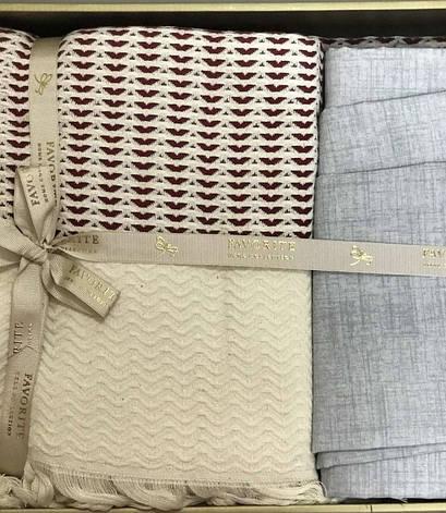 Комплект постельного белья Favorite Armani Пике Евро лен с покрывалом арт.ts-02143, фото 2