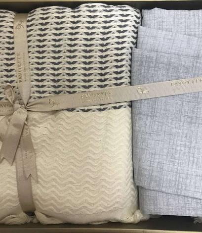Комплект постельного белья Favorite Armani Пике Евро лен с покрывалом арт.ts-02145, фото 2