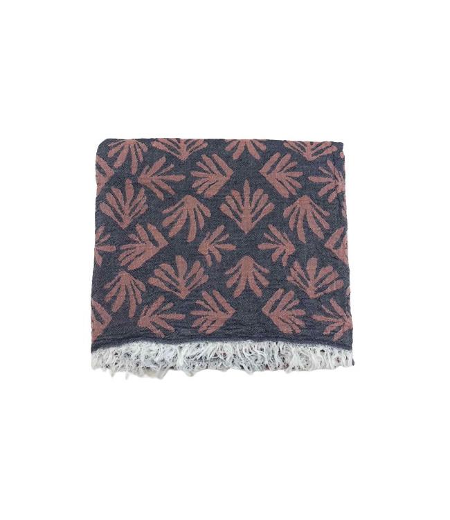 Рушник-пештемаль пляжне Gold Soft Life Leaf 100*180 см червоне арт.ts-02320