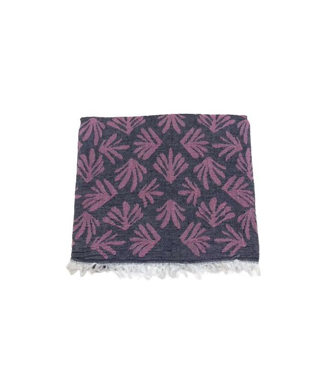 Полотенце-пештемаль пляжное Gold Soft Life Leaf 100*180 см фуксия арт.ts-02319