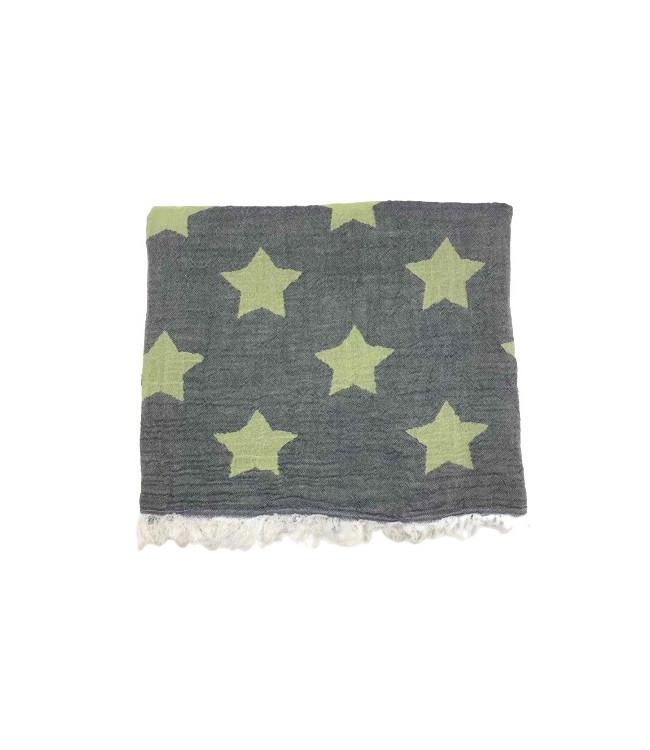 Рушник-пештемаль пляжне Gold Soft Life Star 100*180 см зелене арт.ts-02303