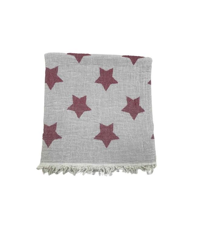 Полотенце-пештемаль пляжное Gold Soft Life Star 100*180 см красное арт.ts-02302