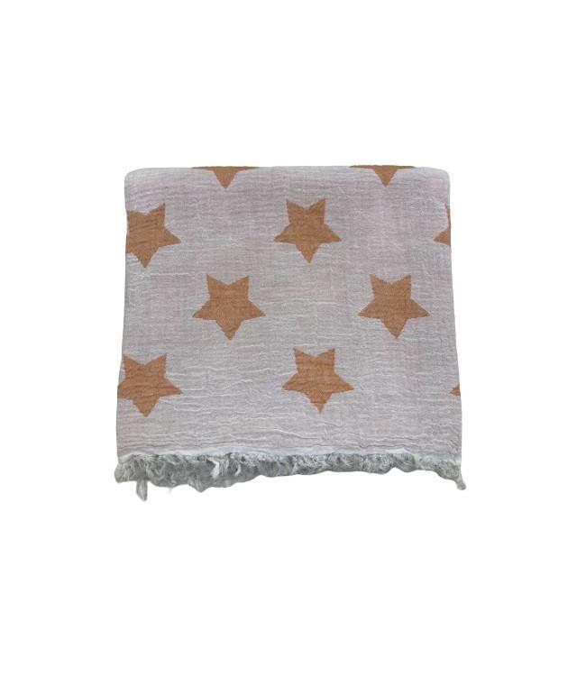 Рушник-пештемаль пляжне Gold Soft Life Star 100*180 см помаранчеве арт.ts-02304