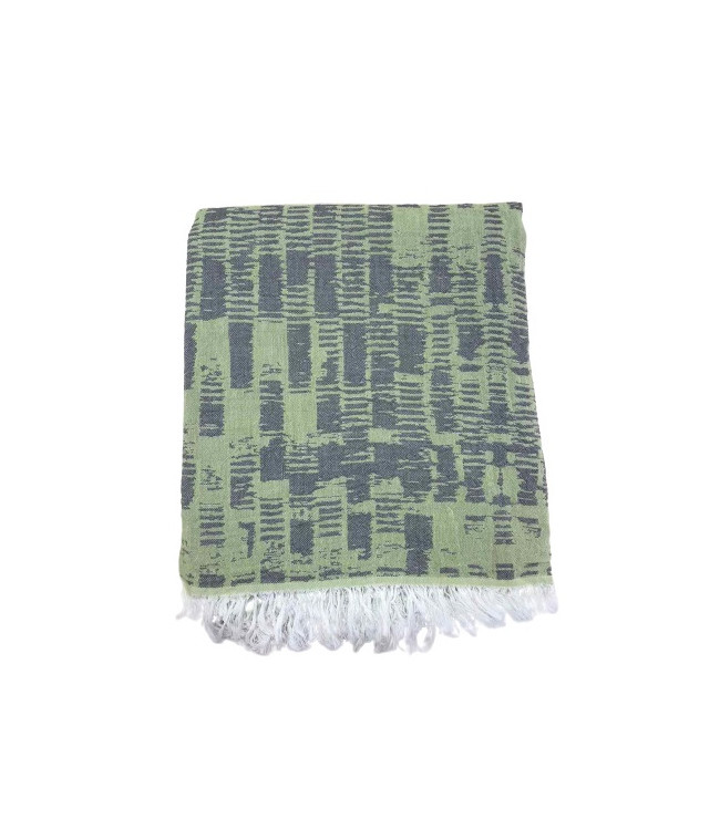 Рушник-пештемаль пляжне Gold Soft Life Virtu 100*180 см зелене арт.ts-02310