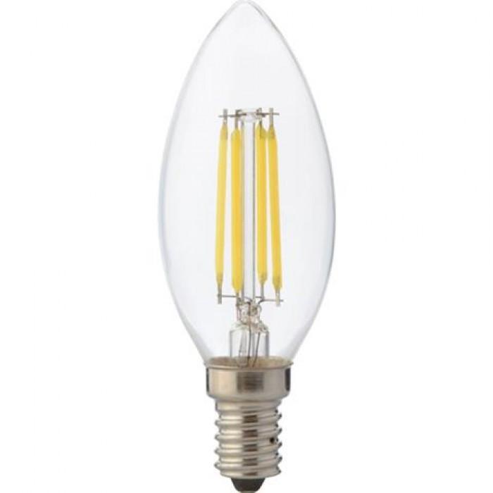 Лампа филамент HOROZ ELECTRIC FILAMENT CANDLE-6 LED 6W свеча Е14 4200K 700Lm 220-240V