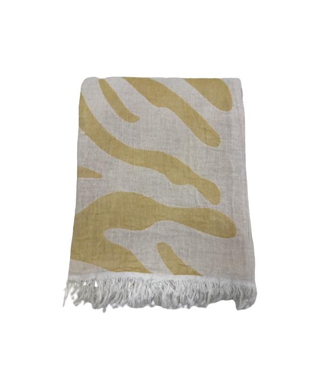 Рушник-пештемаль пляжне Gold Soft Life Сафарі 100*180 см помаранчеве арт.ts-02301