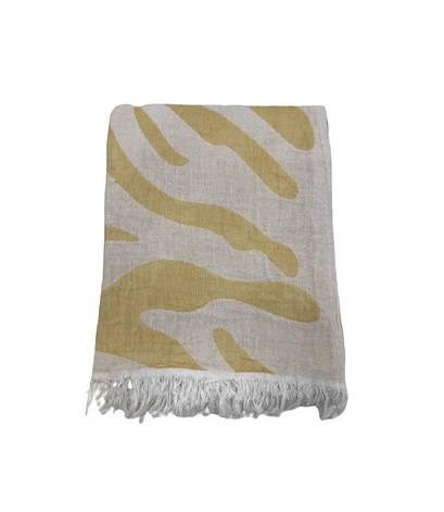 Рушник-пештемаль пляжне Gold Soft Life Сафарі 100*180 см помаранчеве арт.ts-02301, фото 2