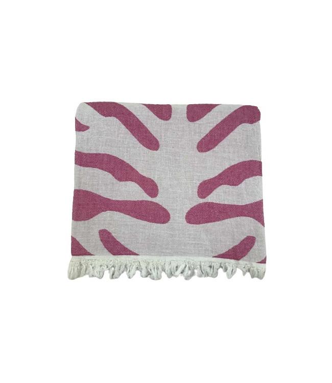 Рушник-пештемаль пляжне Gold Soft Life Сафарі 100*180 см рожеве арт.ts-02300