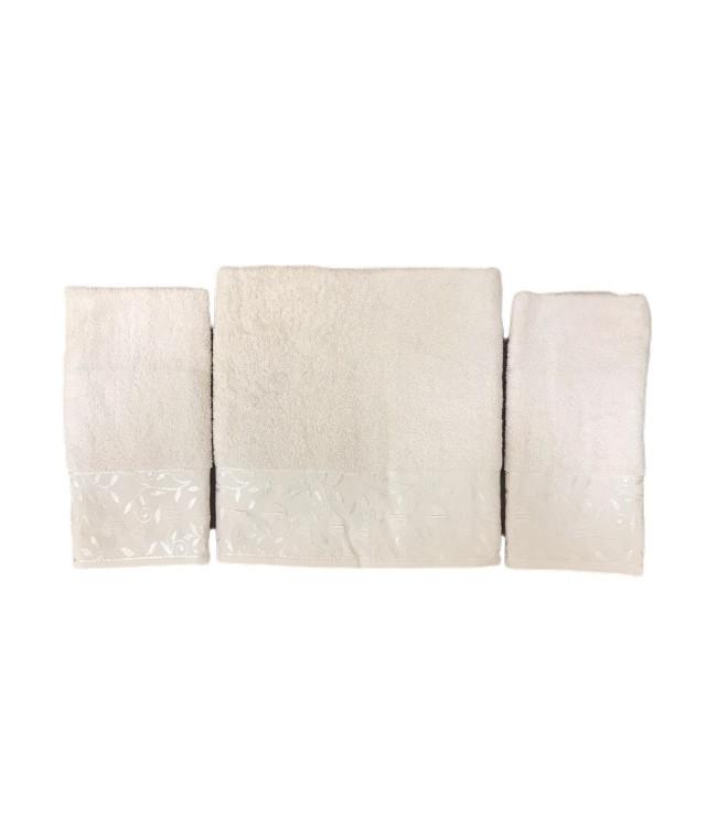 Набір рушників для обличчя і тіла Gold Soft Life For You 2х50*90 см + 70*140 см махрові банні в коробці персиковий арт.ts-02174