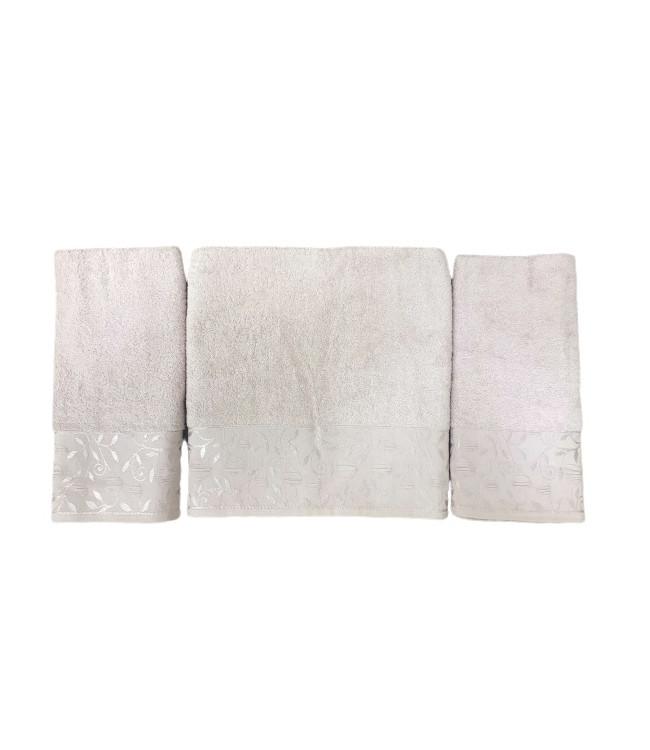 Набор полотенец для лица и тела Gold Soft Life For You 2х50*90 см + 70*140 см махровые банные в коробке пудра