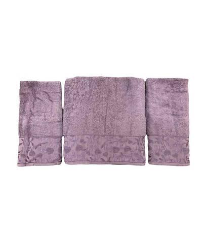 Набір рушників для обличчя і тіла Gold Soft Life For You 2х50*90 см + 70*140 см махрові банні в коробці фіолетовий арт.ts-02173, фото 2