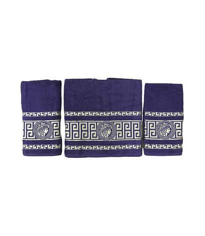 Набор полотенец для лица и тела Gold Soft Life Версаче 2х50*90 см + 70*140 см махровые банные в коробке, фото 2