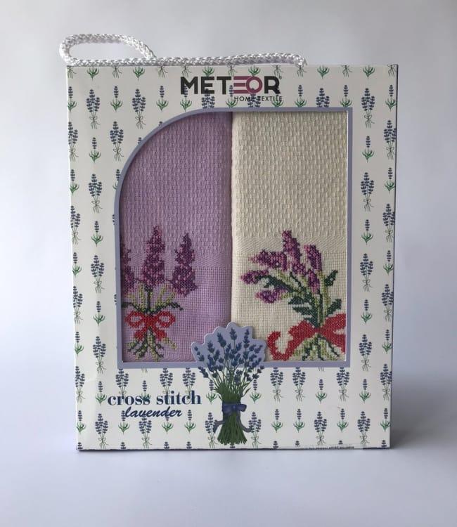 Набор полотенец для кухни Meteor Lavender 40*60 см вафельные в коробке 2шт арт.ts-6001029
