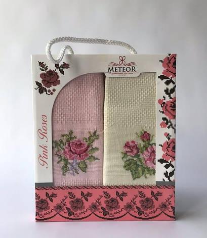 Набор полотенец для кухни Meteor Pink Roses 40*60 см вафельные в коробке 2шт арт.ts-6001025, фото 2