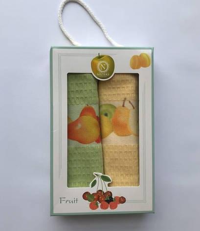 Набор полотенец для кухни Nilteks Fruits 40*60 см вафельные в коробке 2шт арт.ts-6001413, фото 2