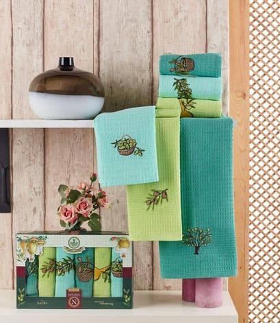 Набор полотенец для кухни Nilteks Extra Virgin 40*60 см вафельные в коробке 6шт арт.ts-01431, фото 2