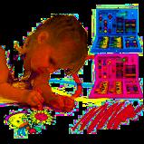 Художественный набор для детского творчества и рисования Painting Set 86 предметов Pink детский в чемоданчике