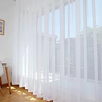 Готова тюль 6 м висота до 3,2 м шифон білого кольору в зал, в спальню,