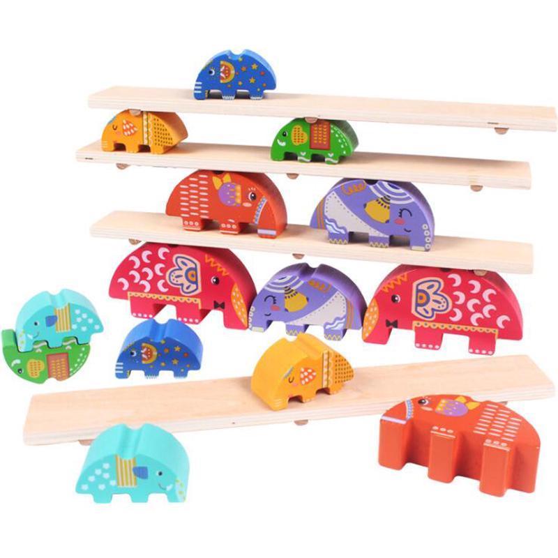 Развивающая игрушка Балансир Слоники