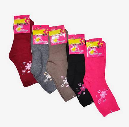 Махровые носки с цветами (C493) | 12 шт., фото 2