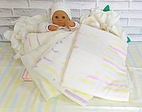 Детская простынь одеяло плед 110*110 лен хлопок.