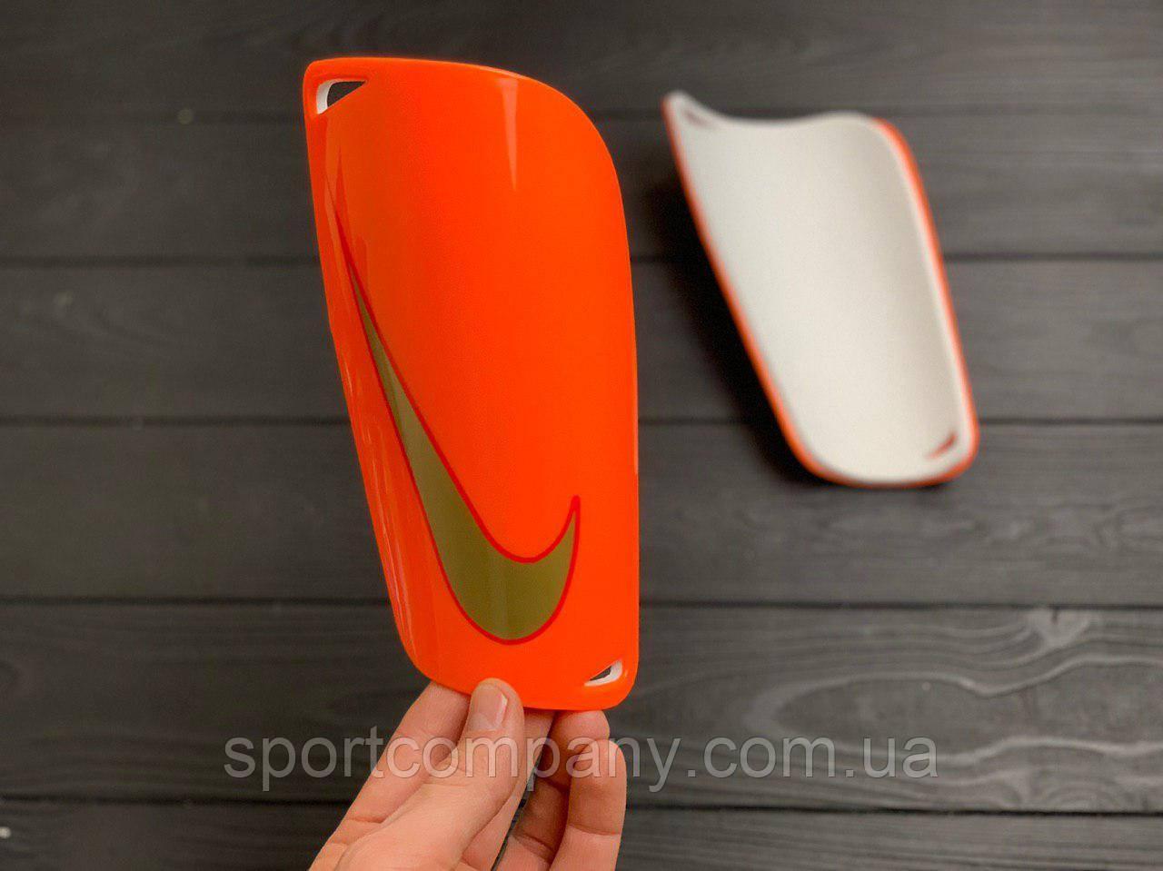 Щитки для футбола найк оранжевые 1095