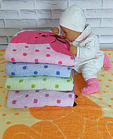 Детская простынь одеяло плед 110*100 махровая.