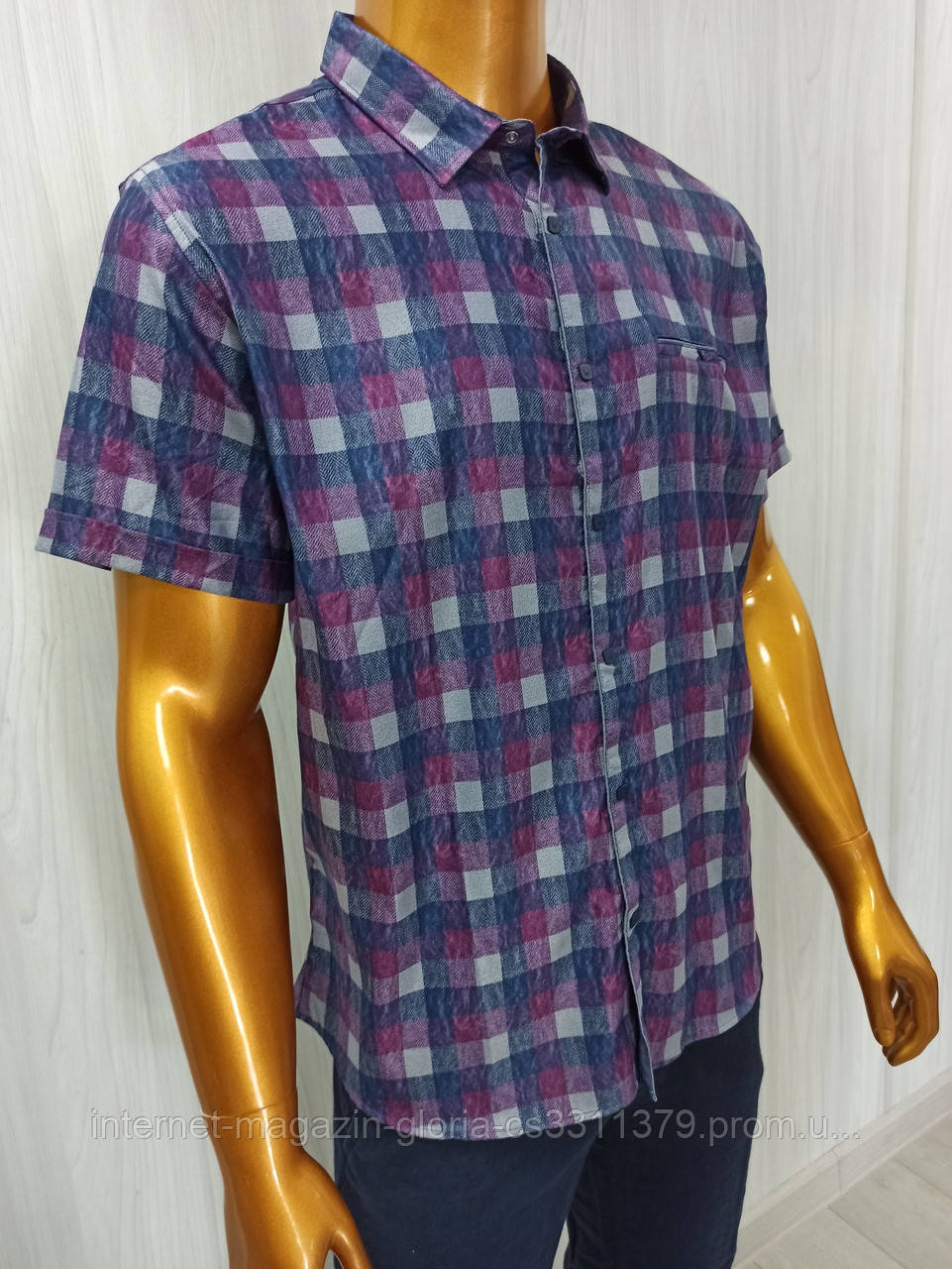 Мужская рубашка Amato. AG  29585. Размеры: 2XL,3XL,4XL,5XL.