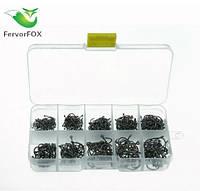 На набор рыболовных крючков «FervorFOX» (500 шт) - изготовлены из стали, фото 1