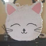 Піньята кішка кішечка паперова для свята піната Кіт котик Кітті піньята, фото 8