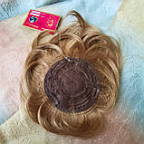 Накладка на макушку с челкой на зажимах песочная 1369-19, фото 8