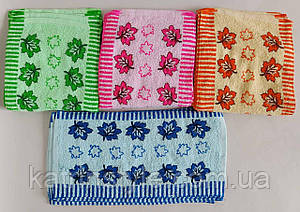 Кухонные махровые полотенца «Кленовый лист» 25*50 см (20 шт)