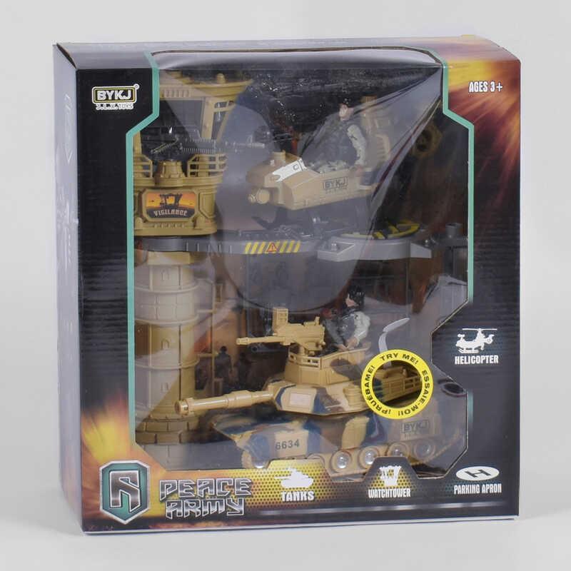 Военный набор 6648 А (12) свет, звук, трещотка, в коробке