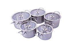 Набор посуды нержавеющий Empire - 2,5 x 2,6 x 3,3 x 4,2 x 5,5 л (5 шт.) 5004