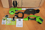 Садовый аккумуляторный триммер Greenworks 40 V модель 21332  без АКБ и ЗУ, фото 4