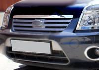Ford Connect 2010-2014 гг. Накладка на кромку капота Полированная нержавейка