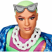 Колекційна лялька Барбі Barbie BMR1959 Кен Неон GHT96, фото 4