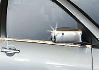 Mitsubishi Lancer 9 2004-2008 гг. Накладки на зеркала (2 шт) Полированная нержавейка