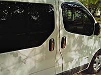 Nissan Primastar 2002-2014 гг. Накладки на ручки (4 шт, нерж) OmsaLine - Итальянская нержавейка