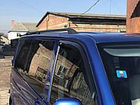 Volkswagen T5 Multivan 2003-2010 гг. Черные рейлинги Короткая база, Пластиковые ножки