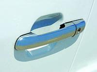 Volkswagen LT 1998↗ гг. Накладки на ручки (4 шт, нерж) Carmos - Турецкая сталь