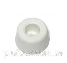 Ніжка гумова, №3 (ф15/ф18, h10 мм), біла