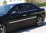 Opel Vectra C 2002 гг. Накладки на молдинги дверей (4 шт, нерж) OmsaLine - Итальянская нержавейка