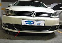 Volkswagen Jetta 2011-2018 гг. Улыбка на передний бампер U 2011-2014 (нерж)