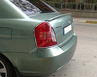 Hyundai Accent 2006-2010 гг. Спойлер Meliset (под покраску)